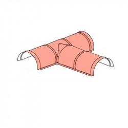 Т-образный полукруглый конек